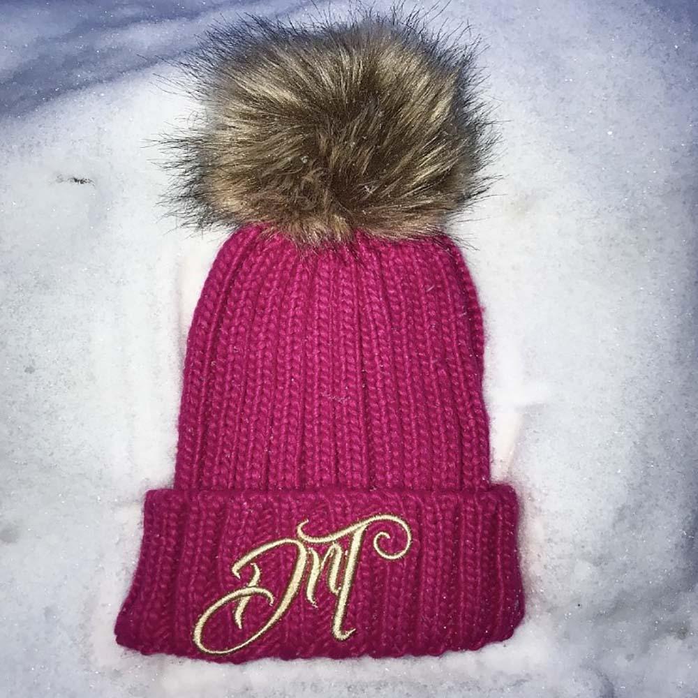 c63e78ed0a9128 ... DROP N THROTTLE BOBBLE HAT. 🔍. Pink Bobble Hat