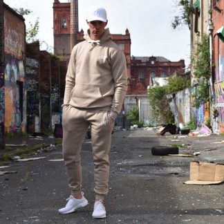 DNT Tracksuit Sand Front