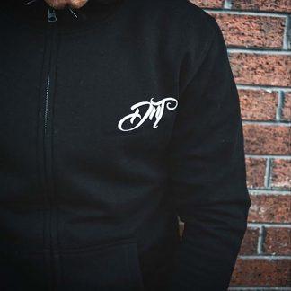 DNT logo zip hoodie black